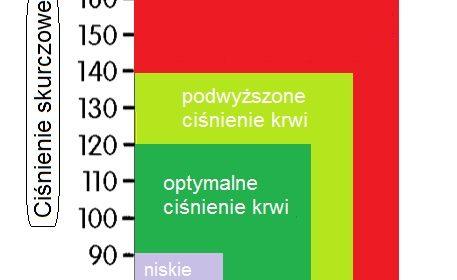 ciśnienie krwi - wykres wartości dla osób dorosłych