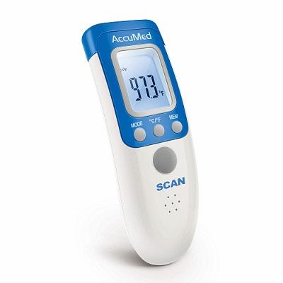 elektroniczny termometr bezdotykowy AccuMed AT2102 do mierzenia temperatury ciała